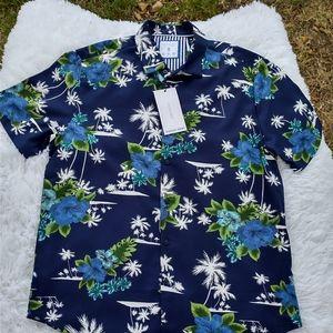 Hawaiian shirt Cactus man blue and green summer